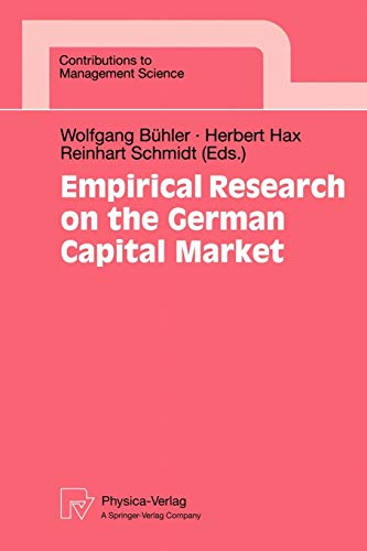 Empirical Research on the German Capital Market (Contributions to Management Science)