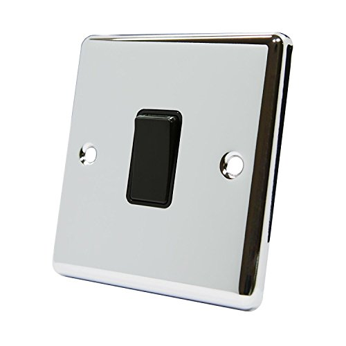 Deta Decorative 20 A 1 Gang Interruttore cromato (Toggle Switch Wall Plate Luce)