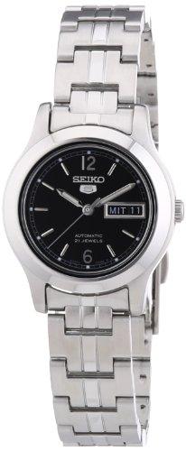 Seiko Damen-Armbanduhr XS Analog Automatik Edelstahl SYMD99K1 - Seiko Uhr 5 Automatik Damen