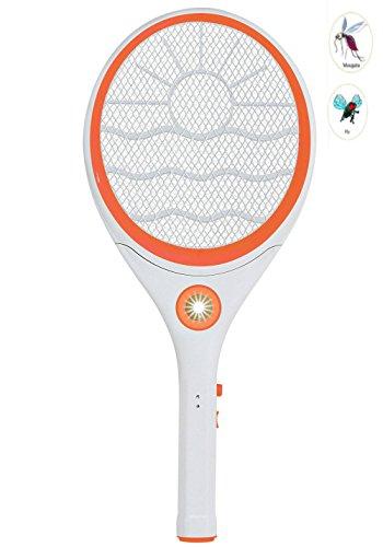 Qicuang Raqueta Electrica Para Matar Insectos Mosquito Trap Recargable Para Exterior Casero (Amarillo)