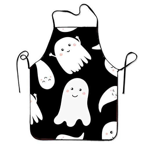 Azfaiop Cute Ghost Aprons Printed Apron for Restaurant Home BBQ