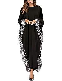 9a0aff4cebd1 zhruiqun Abito Abaya da Donna Manica Lunga - Vestito Orientale Elegante  Musulmano Kaftan Maxi Dress