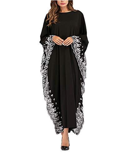zhruiqun Islamische Kleidung Frauen Kaftan Dubai - Muslimische Lange Arabische Kleider Abaya Spitze Bestickt