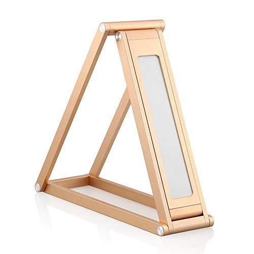 Falliback Tischlampe, zusammenklappbar, 360 Grad, LED, 2 Stufen, verstellbar, faltbar, leicht zu transportieren, geeignet für Lesen, Lernen, Arbeiten, Schreiben, Gold