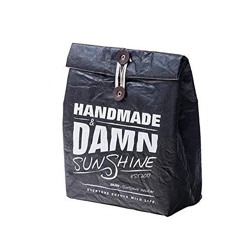 Fyuan Pausenbrot Tüte -Lunch Tasche für Erwachsene Isolierte Lunchbox Große Wasserdichte Kühltasche für Männer und Frauen Buff Schwarz - Buff-tasche