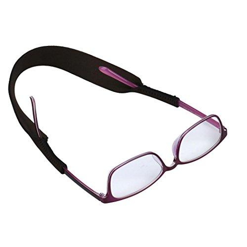 HCFKJ 5PCS Glasses Anti Slip Strap Outdoor Sports Sunglass Rope Band Holder (SCHWARZ)
