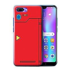 Stuff4® Hülle/Case für Huawei Honor 10/Rot Muster/Anime Cartoon Kodex Kollektion