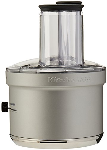 KitchenAid KSM2FPA Food Processor Attachment with Commercial Style Dicing Kit, Silver