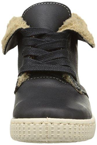 Victoria Safari Alta Piel Tintada Pelo Unisex-Erwachsene Stiefel Schwarz (Negro)