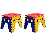KitschKitsch Plastic Kids Portable Folding Chair For Activity Play & Study-Pack Of 2