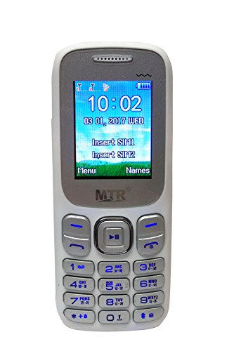 MTR 312 Dual Sim White Mobile Phone With Vibration Function