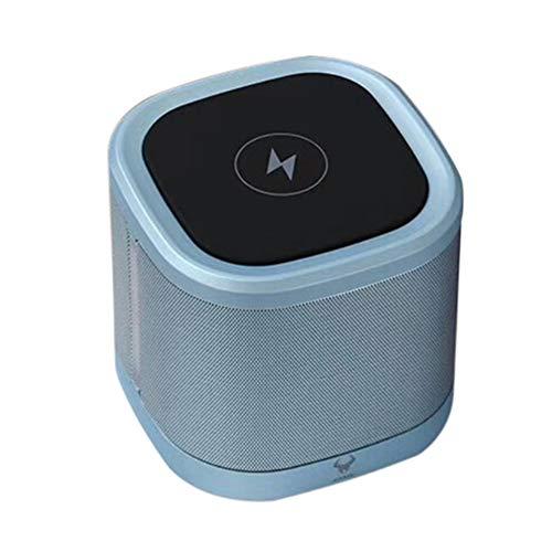 Tragbarer Bluetooth-Lautsprecher mit drahtlosem Ladegerät, Wireless-Stereo-Funktionsleben kreative Mini-Bluetooth-Lautsprecher für Passiv für Reisen, Familie, Outdoor-Blau