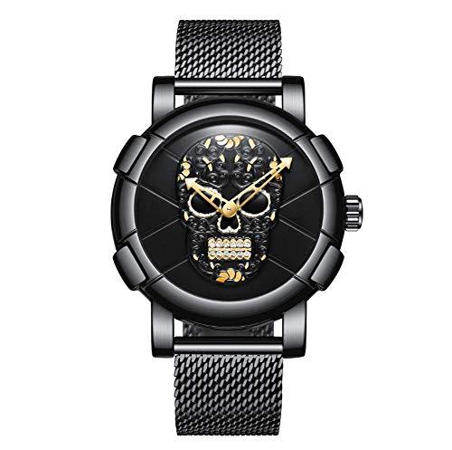 ASD Reloj De Cuarzo De Los Hombres Impermeable Shantou Fashion Net con Reloj De Negocios,Black