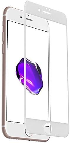 XeloTech 3D Panzerglas iPhone 7 6s 6 - Schützt das komplette Display - Full Cover (Weiß)