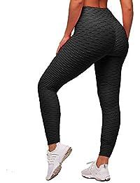 a181ee39700e1 Memoryee Leggings de Compression Anti-Cellulite Slim Fit Butt Lift  Elastique Pantalon de yoga taille