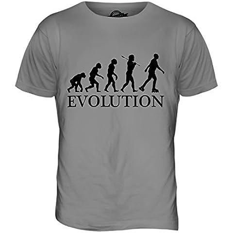 CandyMix Pattinaggio In Linea Evoluzione Umana T-Shirt da Uomo Maglietta