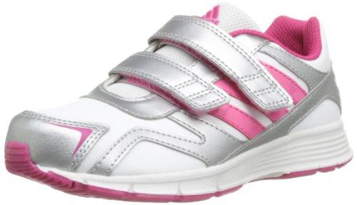 adidas Cleaser Cf K Unisex-Kinder Sneaker Weiß - Blanc (White/Ray Pink/Silver)