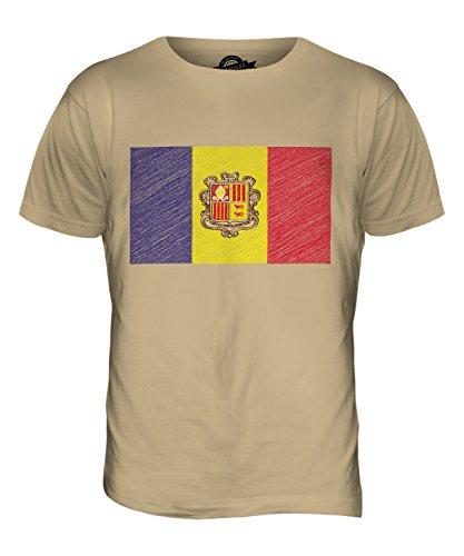 CandyMix Andorra Kritzelte Flagge Herren T Shirt Sand