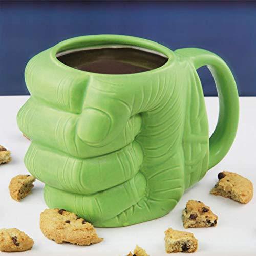Jiaxingo Hulk Faust Keramiktasse, lustige geformte Tasse Kaffeetasse Beste Tasse für Kaffee, Tee und mehr - lustige Kaffeetasse Geschenk