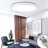 COOSNUG 60W Luz de techo LED moderna Lámpara de techo redonda blanca regulable Lámpara de salón Pasillo Dormitorio Cocina Lámpara de pared con ahorro de energía [Clase de energía A ++]