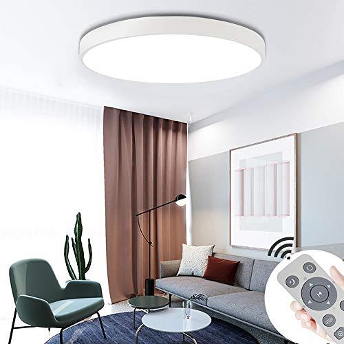 COOSNUG 60W Modern LED Deckenleuchte Dimmbar Weiß Rund Deckenlampe Flur Wohnzimmer Lampe Schlafzimmer Küche Energie Sparen Licht Wandleuchte [Energieklasse A++]