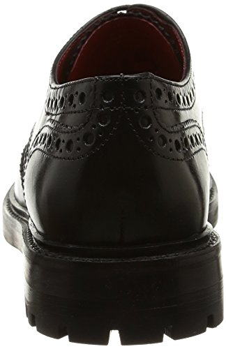 Base London Peel, Herren Oxford Schnürhalbschuhe Schwarz (waxy/grain Black)