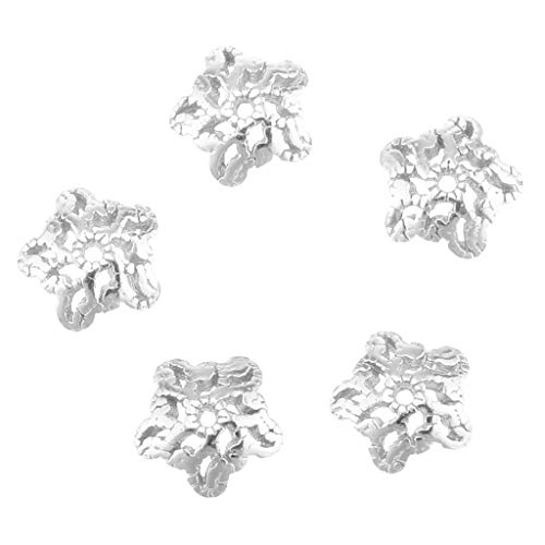 B Baosity 5 Pieces Lot 925 Sterling Silver Flower Beads for sale  Delivered anywhere in UK