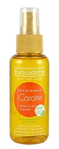 Huile végétale pour visage et corps au carotte evoluderm / bouteille de 100 mL