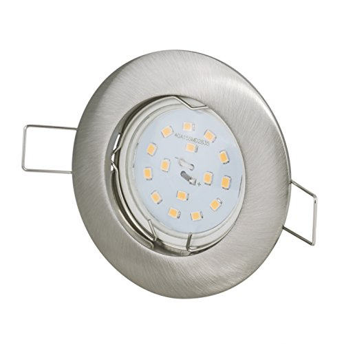 Einbaustrahler 12Volt DC 4,5Watt 390Lumen LED warmweiss Abstrahlwinkel: 120Grad Leuchtmittelfassung MR16 G4 Sockel Leuchtmittel austauschbar EEK A+ nicht dimmbar