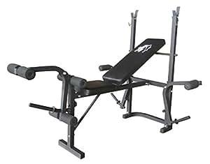 Olympic Folding Weights Bench Black Amazon Co Uk