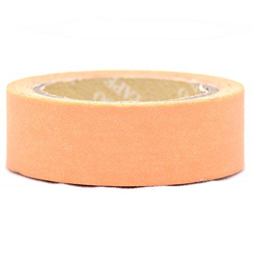 angoo-autocollant-orange-pastel-uni-washi-bande-15-mm-x-10-m
