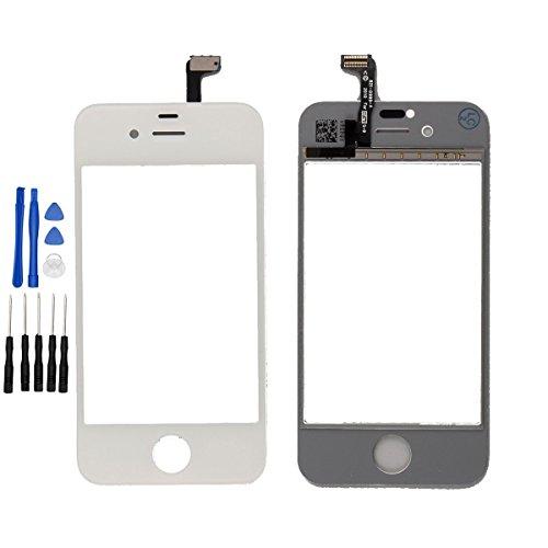 ixuan Pour Apple iPhone 4s Ecran Vitre Tactile ( Non LCD ) de Remplacement (Blanc)