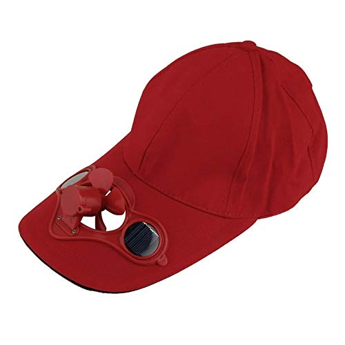 01042b36535a KNOSSOS Summer Sport Outdoor Hat Cap with Solar Sun Power Cool Fan For  Cycling