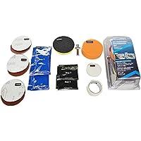 Waroomss Kit de abrillantador de faros de coche Lámparas de pantalla Herramientas de pulido de araña Abrillantador de revestimiento de reparación de faros