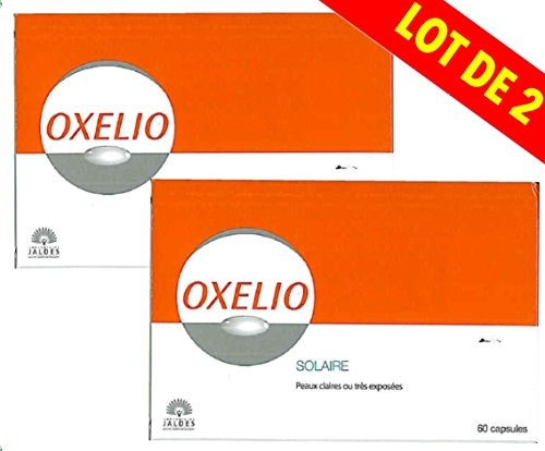 Oxelio - Lot of 2 boxes of solar capsules for clear or sensitive skins, 60 capsules per box