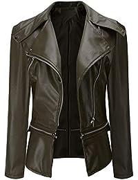 f6ea097030 Amazon.it: giacca pelle - Verde / Giacche / Giacche e cappotti ...