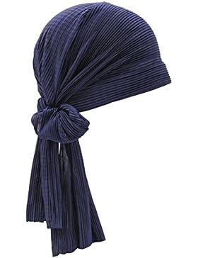 Turbante Plisse para mujer, gorro para pérdida de cabello, quimioterapia