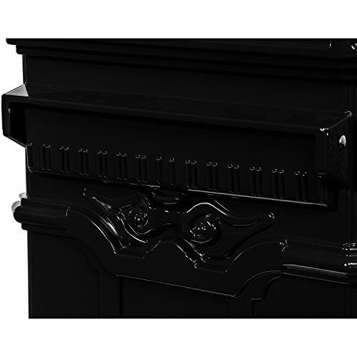 Maxstore Antiker englischer Standbriefkasten, rostfreies Aluminium, Höhe: 102,5 cm, Farbe: Anthrazit, 3 Jahre Garantie anthrazit - 8