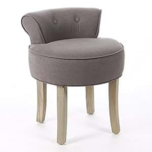 hocker mit lehne leinen taupe b robedarf. Black Bedroom Furniture Sets. Home Design Ideas