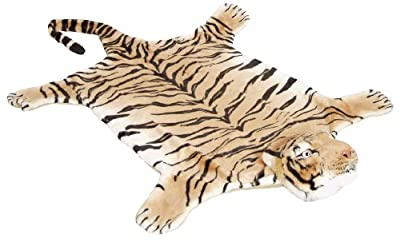 Huge brown tiger rug 200x120cm - BRUBAKER Design - low-cost UK rug store.