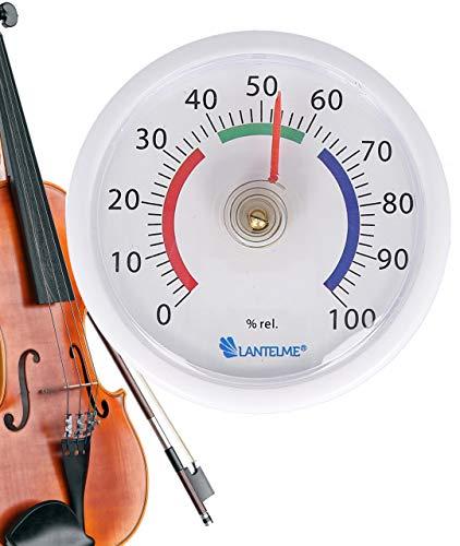 Lantelme Musikinstrumente Hygrometer Selbstklebend Geige Gitarre Violine Musik Koffer Mini Luftfeuchtemesser 8009