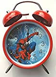 #6: CLOUD 9 Cute Cartoon Old Style Twin Bell Alarm Clock for boys.