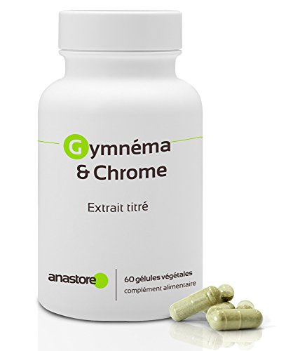 Gymnema y Chrome* 400 mg / 60 gélules * Acide gymnémique 100 mg * Contre le diabète de type 1 et 2 *Fabriqué en FRANCE *Satisfait ou remboursé 100% garanti