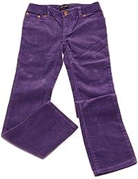 9806U pantalone bimba RALPH LAUREN viola velluto trouser pant kid