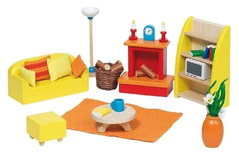 Goki 51904 Puppenhausmöbel für das Wohnzimmer,