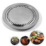 1 ensemble en acier inoxydable Griddles non-Stick plateau coréen style ustensiles de cuisson domestique...