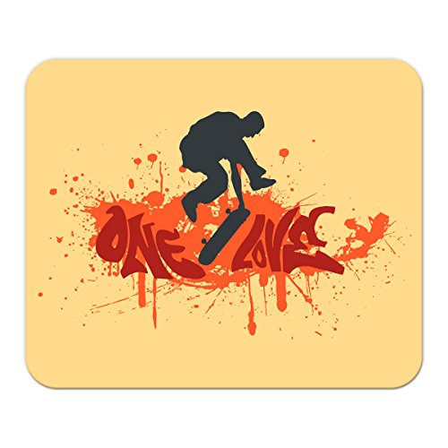 Gaming Mauspad mit Fotodruck Mousepad 220 x 180 mm Rutschfest Schwarz Fransenfreier Rand Präzision Wand Küche Skateboard bedruckt (Skateboard-spiele Für Pc)