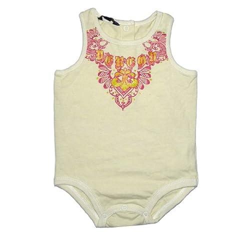 Baby / Infant Jungen or Mädchen Dereon One-Piece Bodysuit / Romper /Onesie 3-6 Beige