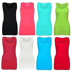 46d036fb55c Women Sleeveless Rib Vest Top Women Plain Summer T Shirt Cott ... by Elegant  Vaps