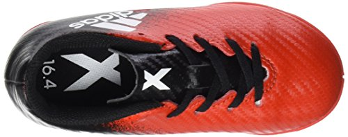 adidas X 16.4 In J, Chaussures DEntraînement de Football Mixte enfant, Orange Rouge-Noir